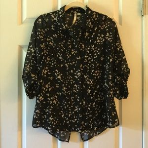 LC Lauren Conrad Button Up Blouse